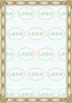 Чистый бланк свободного назначения с логотипом в фоне